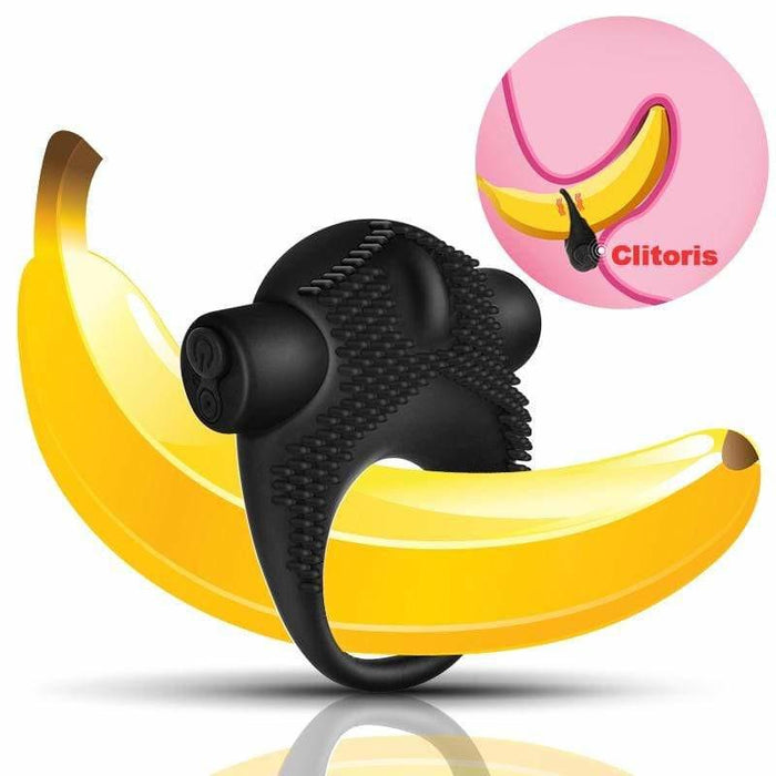 Clit-Friendly Silicone Vibrating Cock Ring