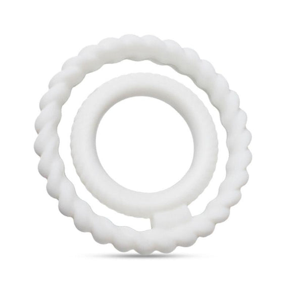 Flexible Silicone Dual Cock Ring