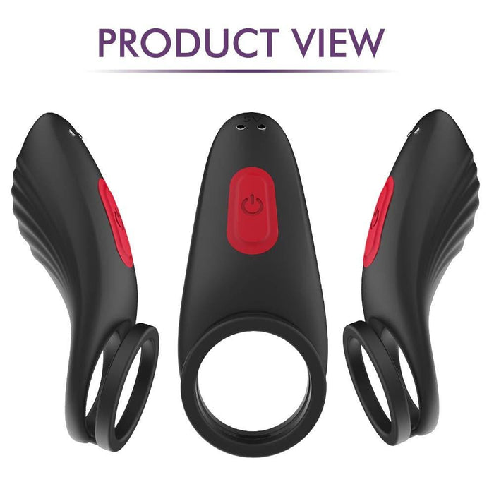 Improved Erections Remote Vibrating Cock Ring