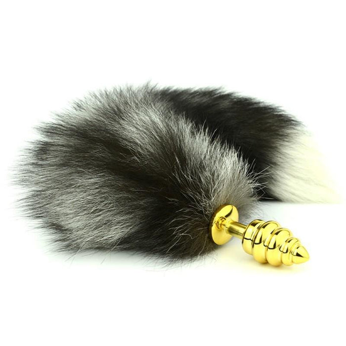 Salt and Pepper Cat Tail Butt Plug 20 Inches Long