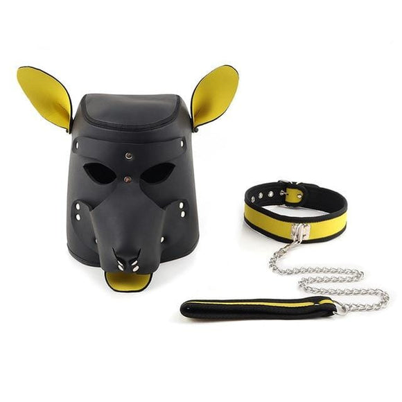 Obedience Training Leather Dog Hood