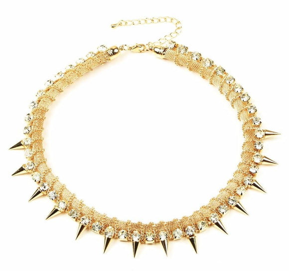 Shiny Shimmering Spiked Collar
