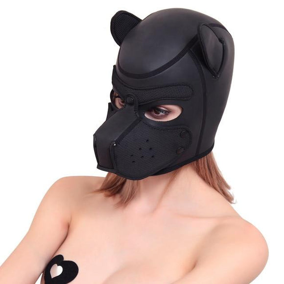 Padded and Comfy Rubber Pup Hood
