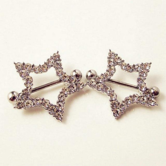 Queen of the Night Star Nipple Rings