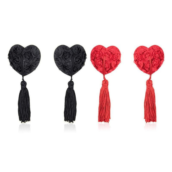 Flirting Heart Lace Nipple Covers