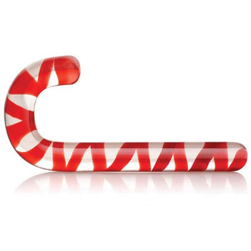Red Candy Cane Glass Dildo