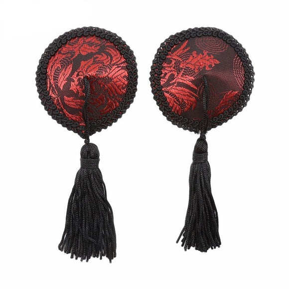 Round Silk Cloth Nipple Tassels