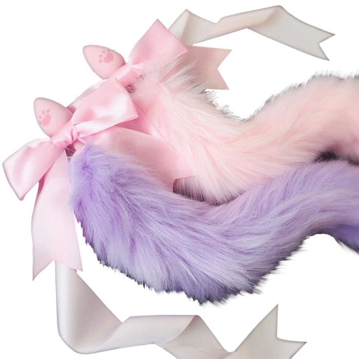 Fox Cosplay Tail Butt Plug 13 to 15 Inches Long