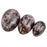 Drilled Natural Rhodonite Crystal Egg 3pcs Set