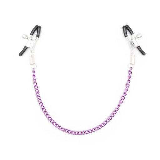 Sexy Purple Chain Nipple Clamps for Couples