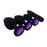 Purple Jeweled Butt Plug With Vibrator 2.95 to 3.74 Inches Long