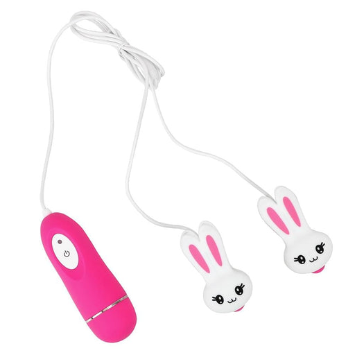 Cute Bunny 10-Speed Vibrating Nipple Clamps