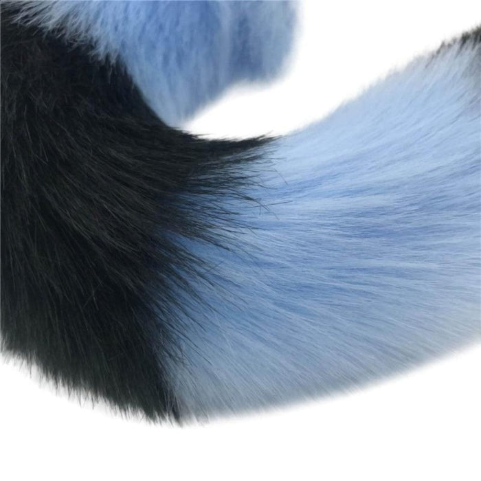 Mythical Blue Wolf Tail Butt Plug 2.76 to 3.54 Inches Long