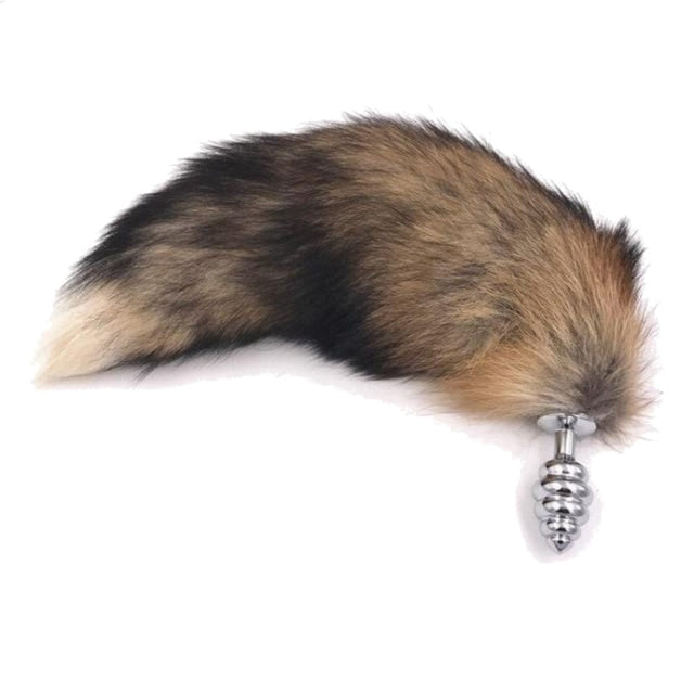 Faux Brown Fur Tail Butt Plug