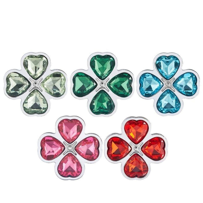 Random Four Leaf Clover Jeweled Butt Plug 2.95 to 3.62 Inches Long