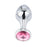 Aluminum Alloy Jeweled Butt Plug 3.66 Inches Long