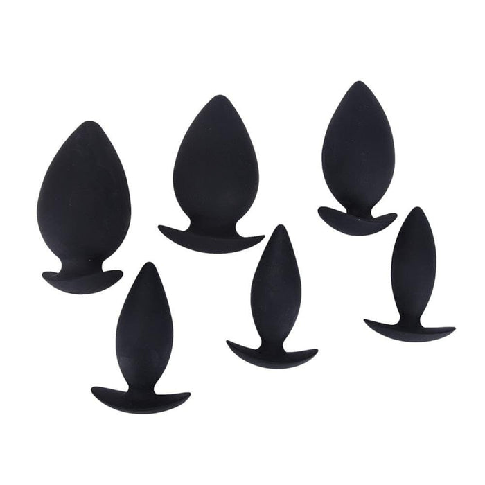 Convex-Shaped Silicone Butt Plug 3.7 to 4.72 Inches Long