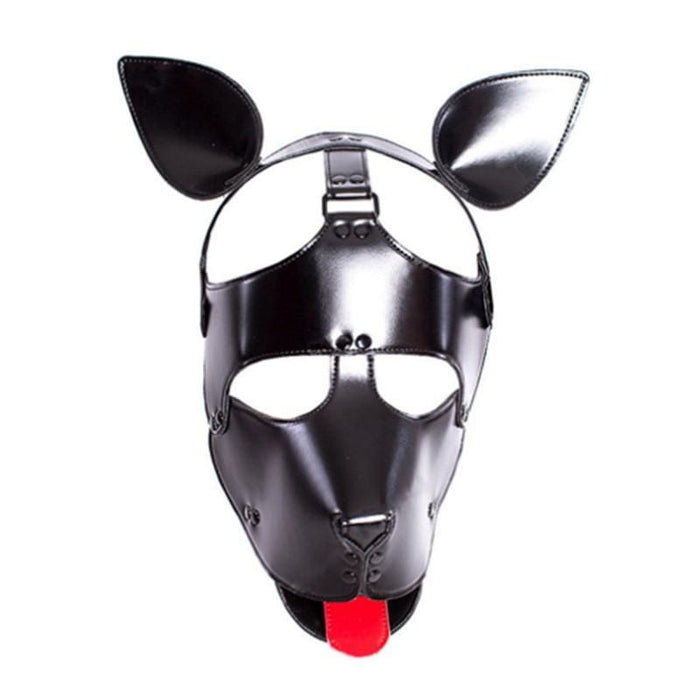 Leather Pet Play Dog Mask