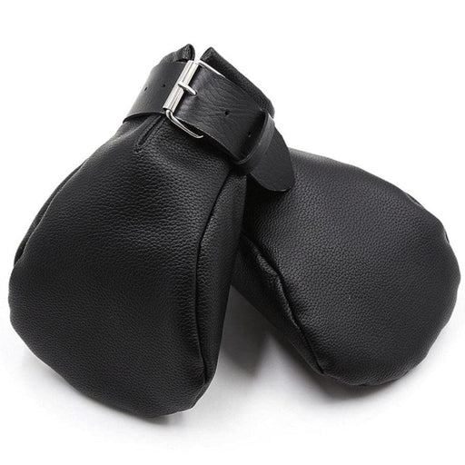 Padded Pet Play Leather Mittens