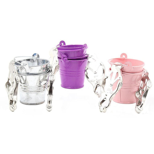 Colored Bucket Butterfly Nipple Clamps