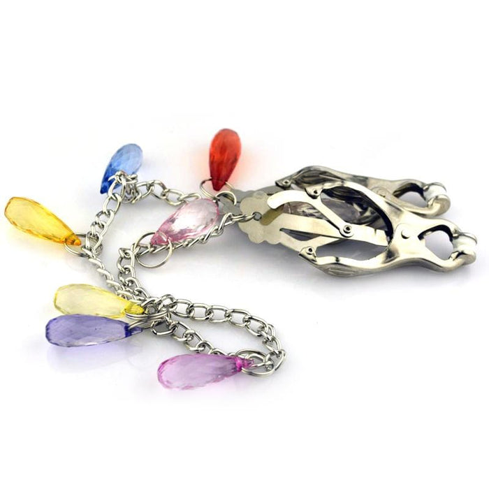 Butterfly Nipple Clamps With Colored Charms