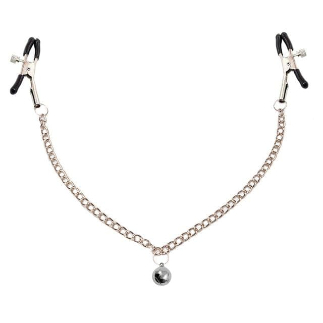 Bell Pendant Silver Nipple Clamps