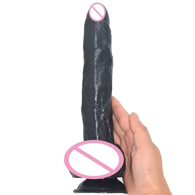 Sensation Overload 9 Inch Suction Cup Dildo With Testicles