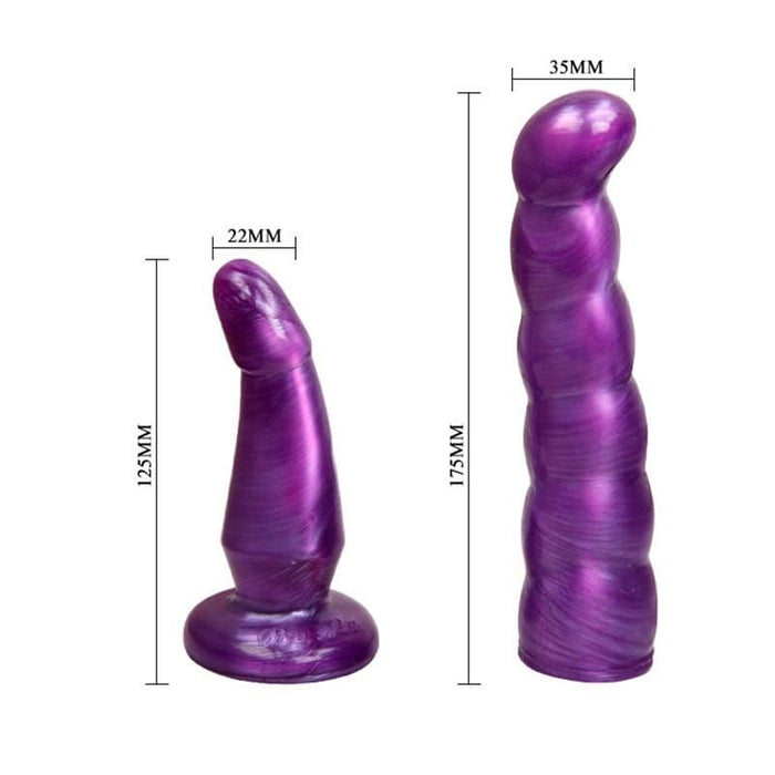 Double Penetration Purple Strap On Dildo