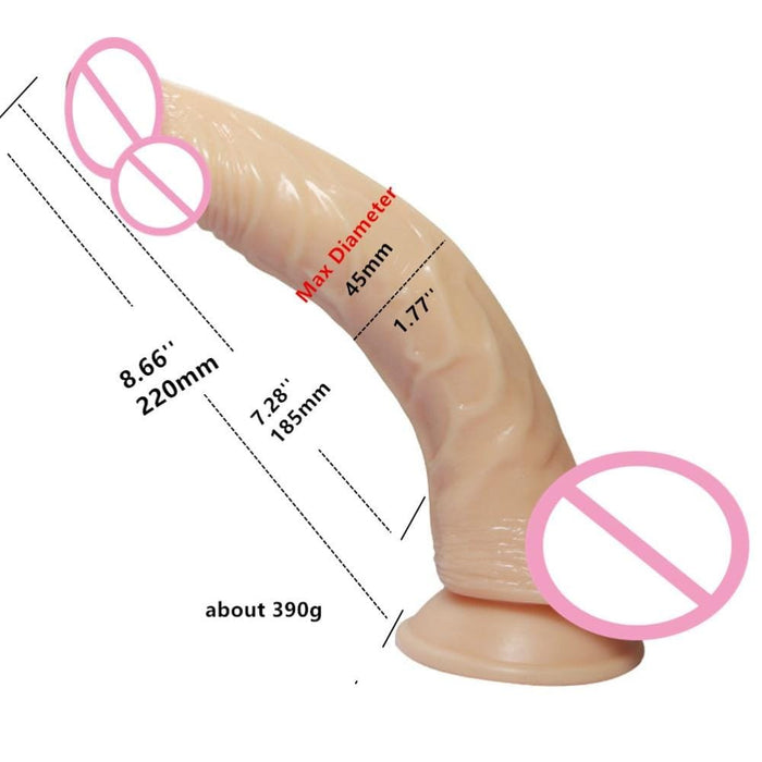 Curved Rectal Impaler Large Anal Dildo