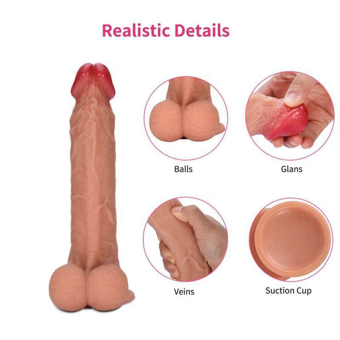 Happiness Provider 8 Inch Suction Cup Dildo With Testicles