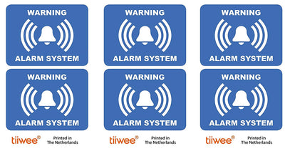 Tiiwee Home Security Label - Red- TWLABEL01