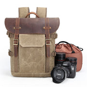 Vintage Saddle Photography Backpack
