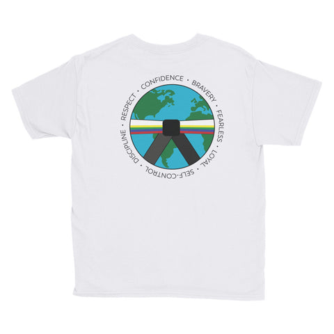 Youth Short Sleeve T-Shirt - All Belts around the World 2018