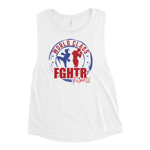 NEW! FGHTR Ladies' Muscle Tank (Black, Gray, White)