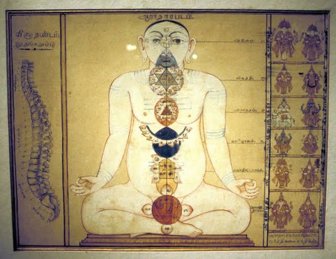 ancient Chinese drawing of the TCM Meridians