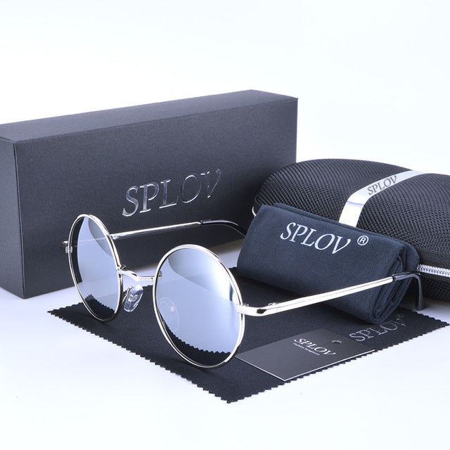 Men Retro Round Sunglasses - Delloi