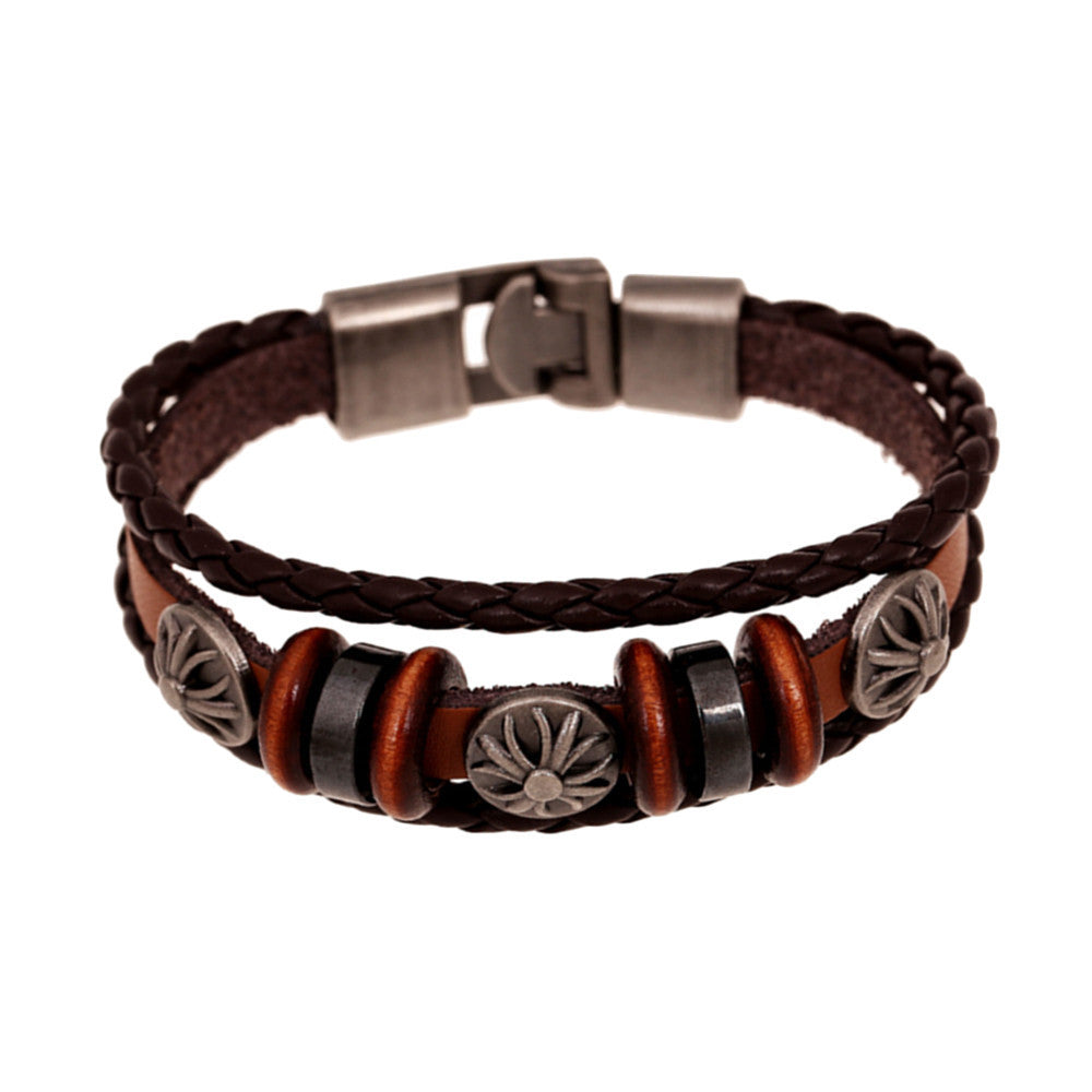 Unisex Leather Bracelet & Bangles Jewelry - Delloi