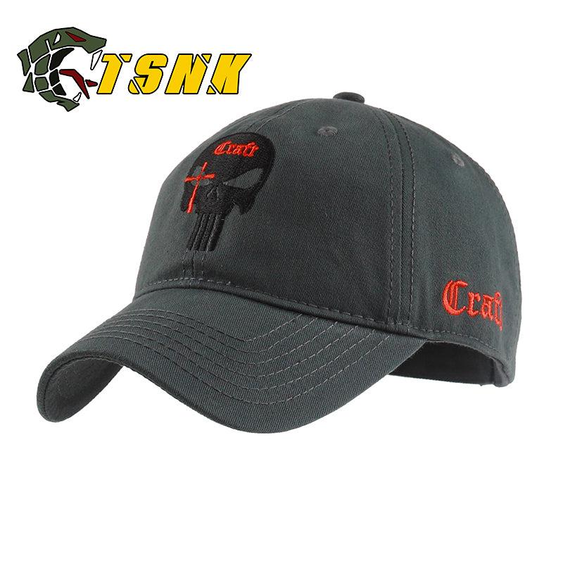 Tactical Cotton Baseball Cap. Seals Punisher American Sniper. - Delloi