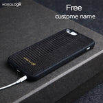 Luxury Italian Genuine Leather Lizard Skin  Phone Case for iphone 8 X 7plus SE custom name service - Delloi