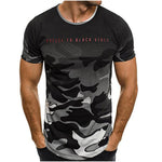 Casual Camo T-Shirts Men's Slim Fit O Neck Short Sleeve - Delloi
