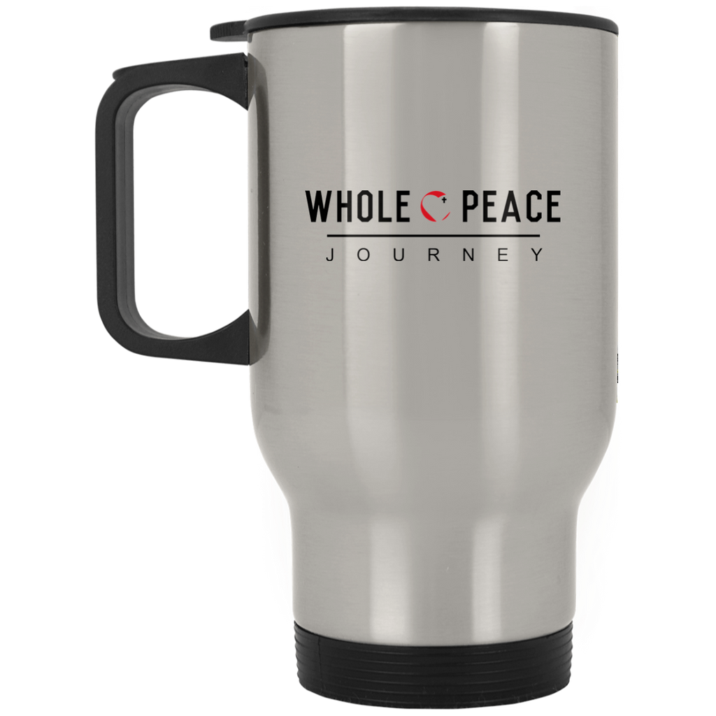 Whole Peace Journey Silver Stainless Travel Mug