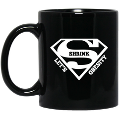 Superman LSO 11 oz. Black Mug