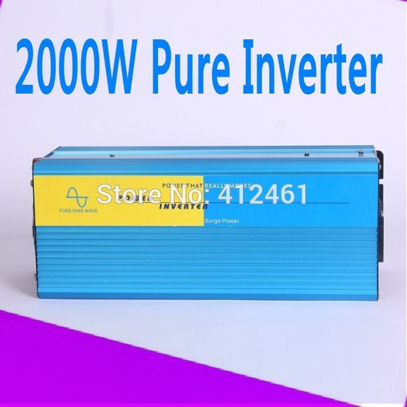 Doubel Digital Display 4000W Watts Peak Real 2000W 2000 Watts Power Inverter pure sine wave inverter 24V DC to 220V AC