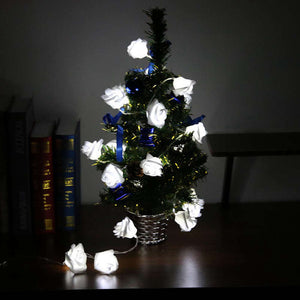 USB Power Supply 20 LED Rose Flower Christmas Holiday String Lights for Valentine Wedding party Garland Bedroom Decoration