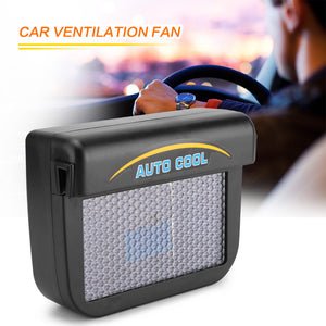 0.3W Universal Solar Powered Auto Car Window Cooler Ventilation Fan Air Vent Radiator with Rubber Strip