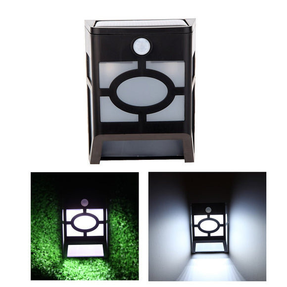 Solar Panel PIR Motion & Light Sensor 10 LED Wall Light Rechargeable Mounted Outdoor Garden Pathway