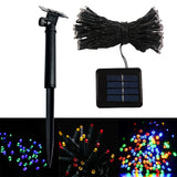 5m 30 LED Solar String Lights Outdoor Waterproof Fairy Lights for Home Christmas Wedding Birthday Party Decoration with Solar Panel