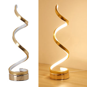 Acrylic LED Table Lamp Modern Spiral Design Minimalist Dimmable Warm