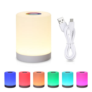 DC5V 4W Touch Control LED Night Light Atmosphere Lamp 3 Levels Brightness Dimmable SOS/ Color Changing Lighting Modes USB Powered Operated Built-in 1200mAh High Capacity Rechargeable Battery Portable for Bedroom Living Room Restaurant Club Home Decoration