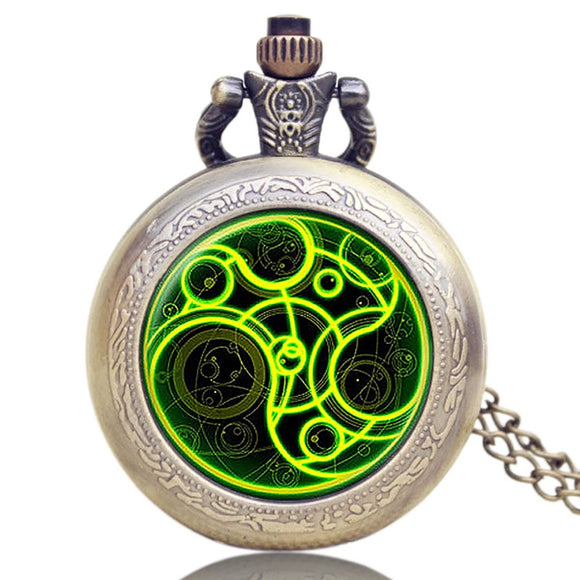 Antique Pocket Watch, Doctor Who High Quality Bronze Pocket Watch for Men, Retro Pendant Pocket Watch Gift
